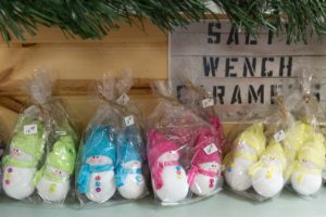 resale colored snowmen at shipping store and more