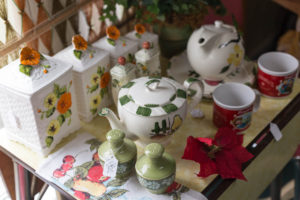 resale Tea pot, cups and salt shakers, baking storage containers